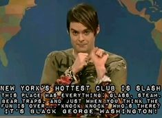 snl. My favorite part of weekend update- Bill Hader's Stefon