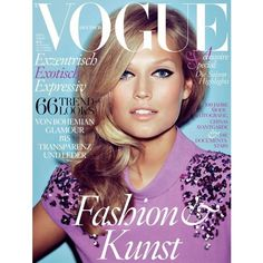 Cover Toni Garrn by Alexi Lubomirski for Vogue Germany August 2012 ❤ liked on Polyvore featuring magazine and magazine cover