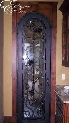 Custom wrought iron wine gate wine doors and other - Interior decorative wrought iron gates ...