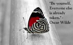 Oscar Wilde. and a butterfly.