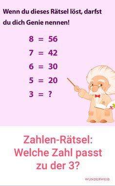 Number puzzles: Which number fits the - dumme sprüche - humor Number Puzzles, Maths Puzzles, Math Help, Brain Teasers, Albert Einstein, Word Porn, Good To Know, Decir No, Motivational Quotes