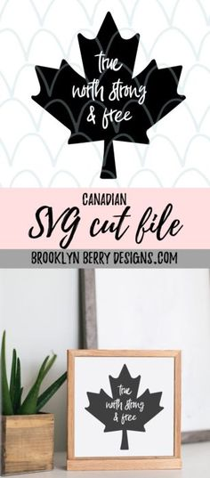 Free SVG for Canada Day! Get ready for Canada Day with this free SVG cut file from Brooklyn Berry Designs.