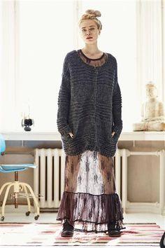 1413: Modell 5 Lang jakke #DIY #knit #strikk