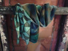 hand painted silk velvet. Rosario P.