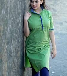 Buy Designer Green kurti by FASHION CARE party-wear-kurti online