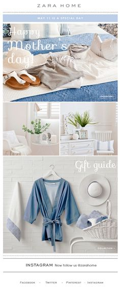 Zara Home Mother's Day email 2014
