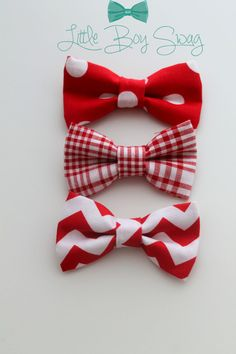 Red Bow Ties for the Holidays