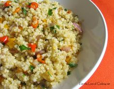For the Love of Cooking » Quinoa with Caramelzied Red Onion, Bell Peppers and Garlic
