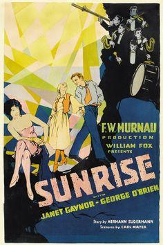 Window card for SUNRISE (F.W. Murnau, USA, 1927) Designer: uncredited Poster…