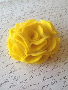 yellow felt flower hair clip or a brooch by Yuliyasboutique, $5.00