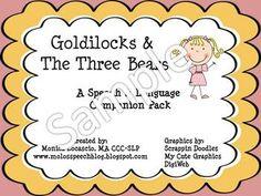 GOLDILOCKS AND THE THREE BEARS SPEECH AND LANGUAGE COMPANION PACK - TeachersPayTeachers.com