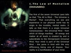 The Law of Mentalism (Immutable); meditate on positive thematic thoughts. See positive thematic visions(energy). Spiritual Wisdom, Spiritual Growth, Spiritual Awakening, Karma, Laws Of Life, Soul Connection, Spirit Science, Quantum Physics, Subconscious Mind