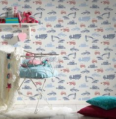 Dětské tapety Esprit 5, stavba a stroje Photo Wall, Frame, Kids, Color, Home Decor, Picture Frame, Young Children, Photograph, Boys