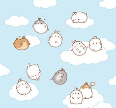 Big meeting in the sky!Like Molang on Facebook! https://www.facebook.com/molang.official