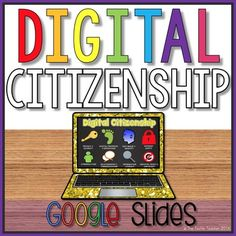 Digital Citizenship Student Project in Google Slides..grading rubrics included!