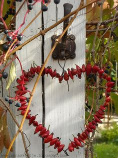 - Rosehip heart – Happy Valentine's Day! Rosehip heart – Happy Valentine's Day! Autumn Crafts, Nature Crafts, Saint Valentin Diy, Christmas Diy, Christmas Decorations, Xmas Wreaths, Deco Floral, Valentine's Day Diy, Diy Garden Decor