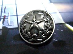 Star Straw Metal Buttons , Nickel Silver Color , Domed , Shank , 1 inch , 10 pcs by Lyanwood, $6.00