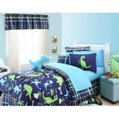 Dinosaur bedding for boys these days come in a lot of cool and fun looking patterns that help make creating a dinosaur themed bedroom fun.  From...
