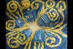 My Doctor Who Van Gogh exploding TARDIS.