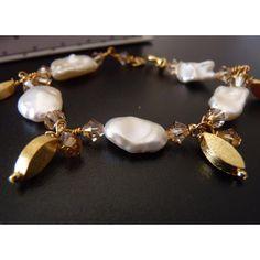 Armband Keshi Perlen gold