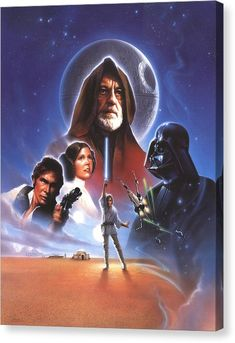 Star Wars Canvas Print - Star Wars Episode Iv - A New Hope 1977 by Fine Artist