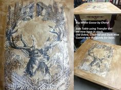 Transfer using Artisan Transfer Gel- and Chalk Paint®decorative paint by Annie Sloan