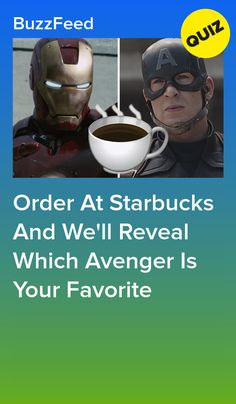 Can We Guess Who Your Favorite Avenger Is Based On Your Starbucks Order? Avengers Quiz, Avengers Cast, Best Buzzfeed Quizzes, Fun Personality Quizzes, How To Order Starbucks, Fun Quizzes, Starbucks Drinks, Bucky Barnes, Fun Activities