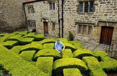 Fabulous box hedge. wow! must need a lot of maintenance.