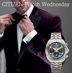 Looking dapper, getting ready for New Year's Eve! This is the MOON PHASE FLYBACK CHRONO (MODEL: AV3006-50H) $1225