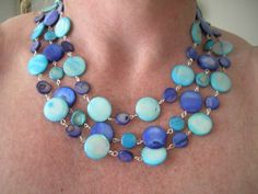 THE COLORS OF THE OCEAN JEWELRY SET - FREE SHIPPING AND HANDLING. via Etsy.