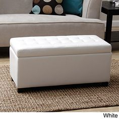 Tiffany Malm Storage Bench This Furniture Storage Bench Is A Convenient Seating Solution For Any Room In Your Home Each Storage Ottoman Features A Quilted Faux Leather Design And Ample Space To Complete Any Living Room Furniture Arrangement White * To view further for this item, visit the image link.Note:It is affiliate link to Amazon.