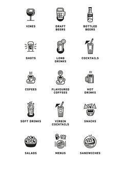 Iconography for Frisco Café by Olivér Csepella.