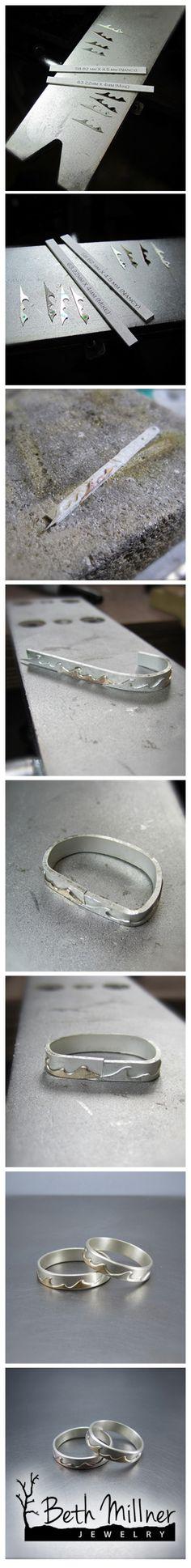 Wedding Rings in progress by Beth Millner Jewelry.  http://www.bethmillner.com