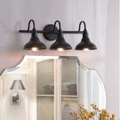Gracie Oaks Brummett Vanity Light Finish: B Single Bathroom Vanity, Bathroom Vanity Lighting, Kitchen Lighting, Master Bathroom, Bathroom Lights Over Mirror, Downstairs Bathroom, Light Fixtures For Bathroom, Rustic Bathroom Lighting, Bathroom Mirrors