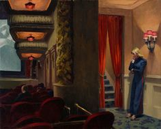 Edward Hopper, New York Movie  1939.  Oil on canvas. 81.9 x 101.9 cm. Collection of The Museum of Modern Art. Given anonymously. Acc. n.: 396.1941