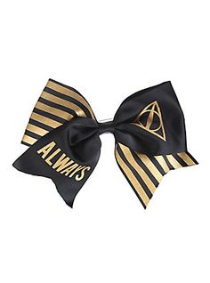 Harry Potter Always Large Cheer Hair Bow, , hi-res Harry Potter Merchandise, Harry Potter Outfits, Harry Potter Hairstyles, Cool Girl Outfits, Cheer Hair Bows, Disney Bows, Harry Potter Deathly Hallows, Harry Potter Collection, Mickey Ears