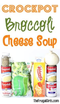 Low Carb Recipes To The Prism Weight Reduction Program Crock Pot Broccoli Cheese Soup Recipe From This Easy And Delicious Slow Cooker Cheesy Soup Is The Perfect Dinner On A Chilly Day Crock Pot Food, Crockpot Dishes, Crock Pot Slow Cooker, Slow Cooker Recipes, Crockpot Recipes, Cooking Recipes, Budget Cooking, Crock Pots, Cooking Bacon