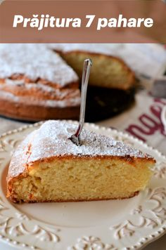 Prajitura 7 pahare este ideala pentru momentele cand vrem sa facem o prajitura simpla, fara ingrediente sofisticate, ci cu ingrediente pe care orice gospodina le are la indemana in camara, in orice moment: lapte, ulei, faina, zahar. Romania Food, Loaf Cake, Sweet Bread, Caramel Apples, Fudge, Sweet Tooth, Food And Drink, Favorite Recipes, Sweets