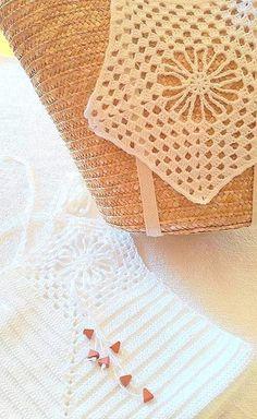 capazo crochet, capazo ganchillo, conjunto verano, playa, complemento Tops, Basket, Beach, Summer Time, Crocheting, Woman