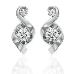 2453618d7 Push Present for New Moms | Signature Studs - 14K White Gold Push Gifts,  Push