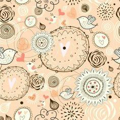 "Упаковочная бумага ""Floral passion White&Peach"" от ""тепло внутри"""