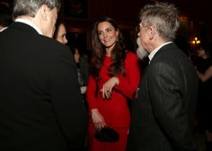 The Duchess of Cambridge wore Alexander McQueen as she met with the actors at the event at Buckingham Palace, 2/17/14 #katemiddleton
