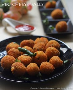 Veggie Cheese Balls - a kids friendly Party Snacks with cheese cottage cheese and loads of veggies. A yummy snack to have with tea. Cheese Ball Recipes, Milk Recipes, Indian Food Recipes, Snack Recipes, Indian Snacks, Yummy Recipes, Easy Snacks, Yummy Snacks, Yummy Food