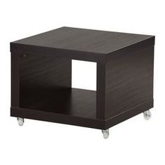 IKEA LACK side table on castors Castors make it easy to move about.