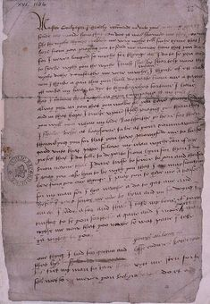 This is the only surviving letter written by Henry VIII's 5th wife, Catherine Howard. It was written in the spring of 1541 to Thomas Culpeper, roughly eight months after she married the king. After Catherine's fall from grace, Culpeper was among the men charged with committing adultery with the queen. It was a treasonable offense, and he was executed for it along with Francis Dereham.
