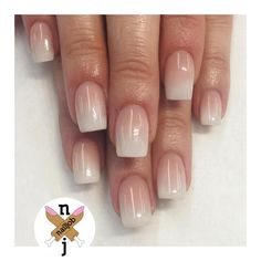 "800 Likes, 20 Comments - Nails By Fariha Ali (@nailjob) on Instagram: ""White Ombre for Madison #nailjob"""