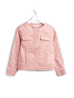 #stellamcartney #denim #jacket #pink #stars #kids #girls #style www.jofre.eu