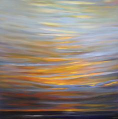 """Sunset"" by Sally Breen. Oil on board, 36 x 36 inches."