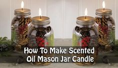 There is nothing better than lighting a lovely scented candle and relaxing…how about a lovely scented oil candle that lasts for ages and ages compared to an average wax candle? With a few simple steps you too could make these beautiful mason jar oil candles.