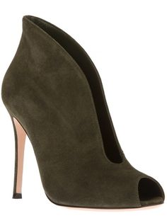Beautiful armygreen Peeptoe Bootie